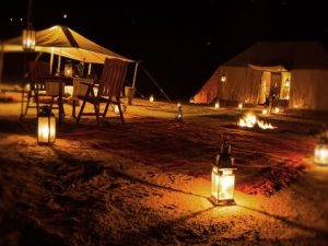 Night view of Sahara desert tour